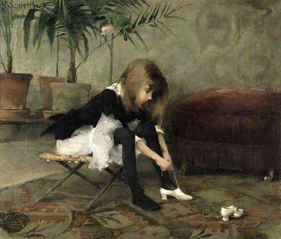 Tanssiaiskengät 1882 - Helene Schjerfbeck