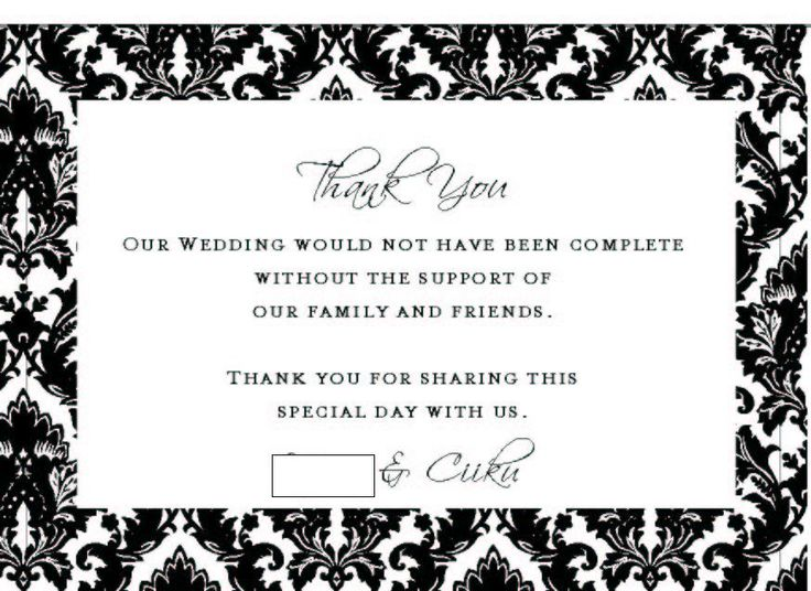 Best 25+ Wedding thank you cards wording ideas on Pinterest - microsoft word thank you card template