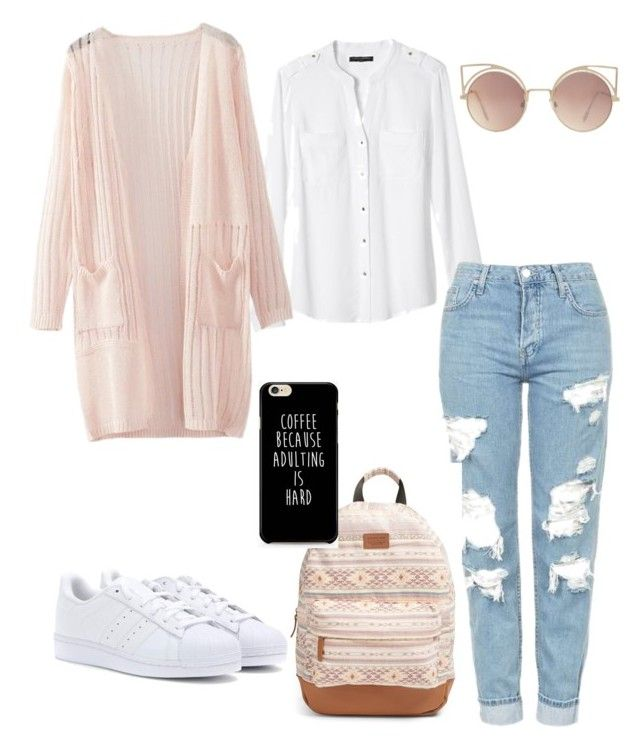 """Outfit inspo"" by aichahh on Polyvore featuring Banana Republic, WithChic, Topshop, Rip Curl, MANGO, adidas and outfit"