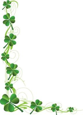 Clip Art of A Shamrock Page Border