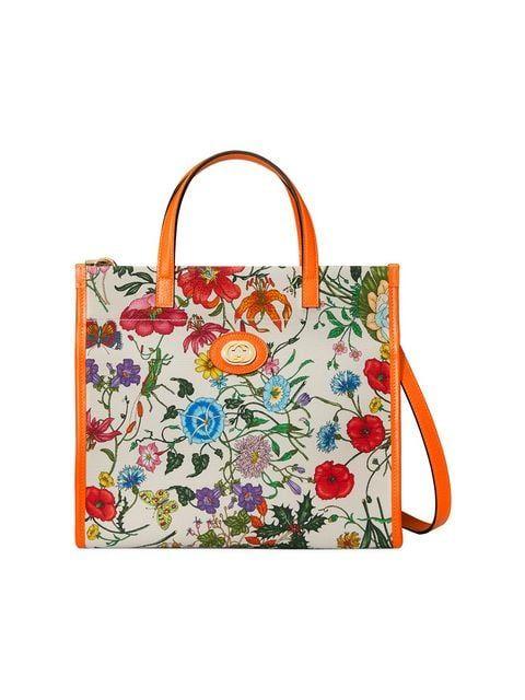 ba7aa23fc68 Gucci Medium Flora Tote Bag in 2019