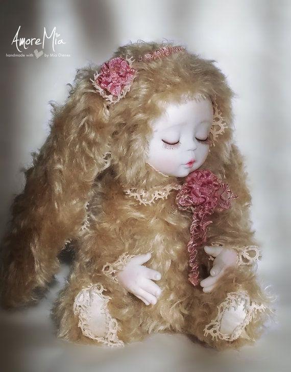 OOAK Teddy Doll art doll teddy bear artist bear by AmoreMiaShop
