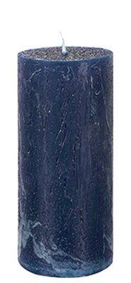 Marinblå Blockljus mörkblå 15cm rustik