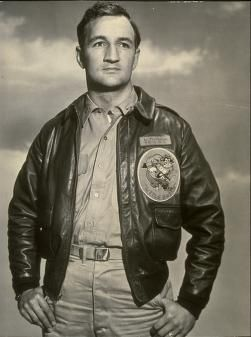 Tom Harmon, football player for the Univ. of Michigan, 1940 Heisman Trophy winner, war hero and father of actor Mark Harmon. In his final football game (against Ohio State), Harmon led Michigan to a 40-0 victory, scoring 5 touchdowns. In an unprecedented display of sportsmanship and appreciation, the Ohio State fans in Columbus gave Harmon a standing ovation at game's end. No Michigan player had been so honored, before or since.