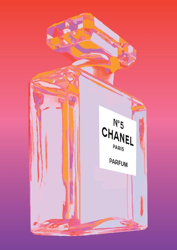 about the art --  This is a beautiful vintage Chanel No 5 advertisement inspired by artist Andy Warhol. As seen on House Rules and The Block.    --