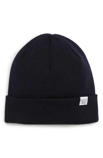 83de4413388 NORSE PROJECTS MERINO WOOL BEANIE - BLUE.  norseprojects