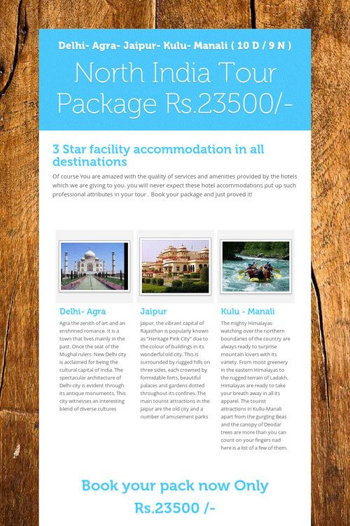 North India Tour Package Rs.23500/-