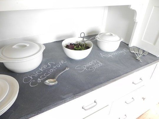 Countertop Chalkboard Paint : Slate countertop on Pinterest Dark countertops, Kitchen countertop ...