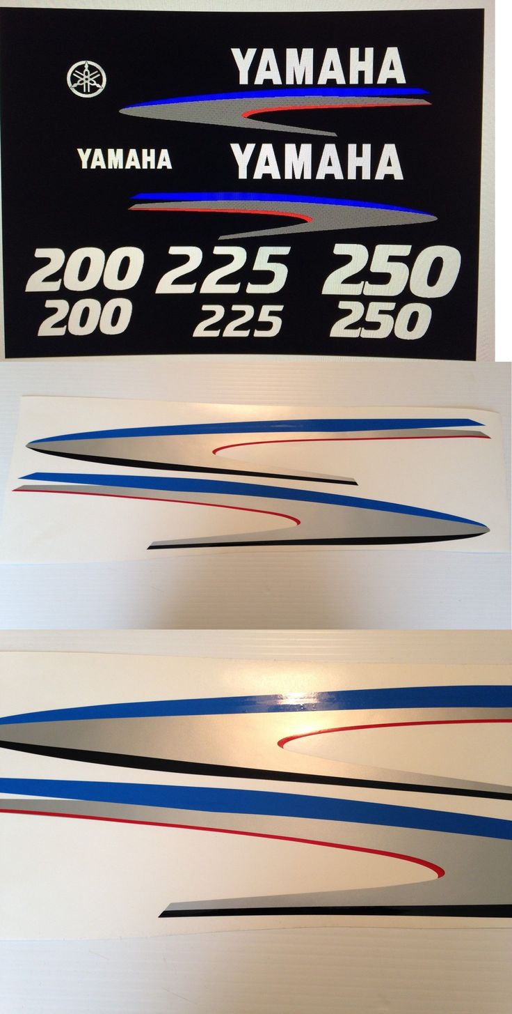 Decals stickers and patches 179988 yamaha 200 225 250 hp 2 stroke outboard decal