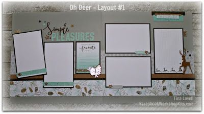 Scrapbooking Kits: Oh Deer 8 Page Christmas Scrapbook Kit - $29