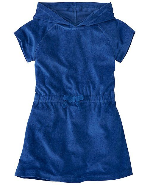 Cool blue coverup for your girl to wear lounging around the beach! Hanna Andersson 12-18mo