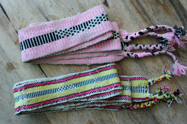 Chumbas make every outfit.  Heandwraps or Fabric Belts from Colombia www.closetpirate.com