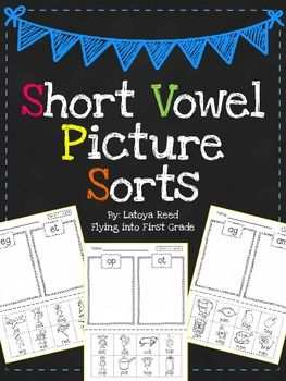 Short Vowel Picture Word Sorts- FREE