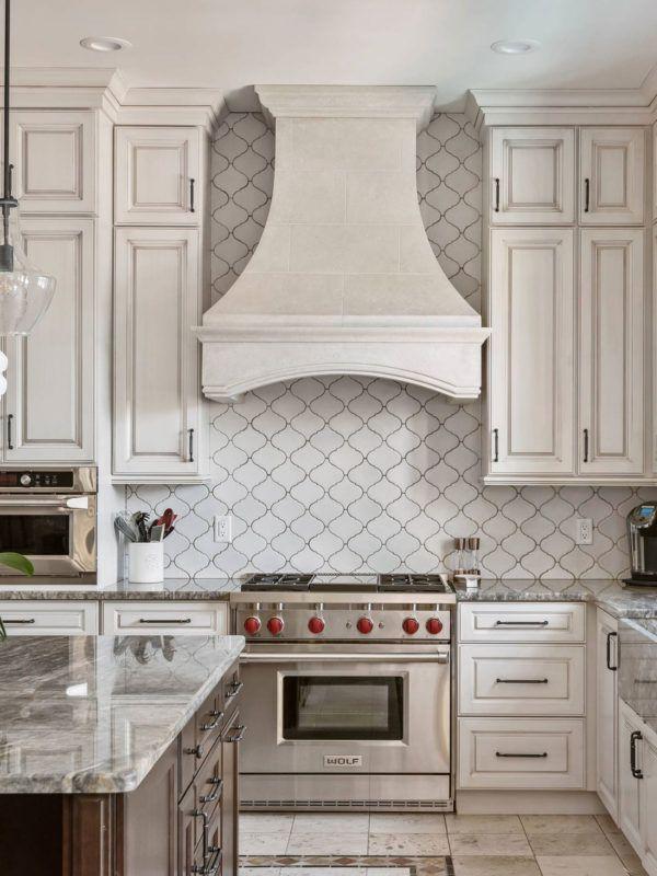 White Glazed Porcelain Arabesque Backsplash Tile Backsplash Com Kitchen Backsplash Trends Kitchen Trends Kitchen Remodel