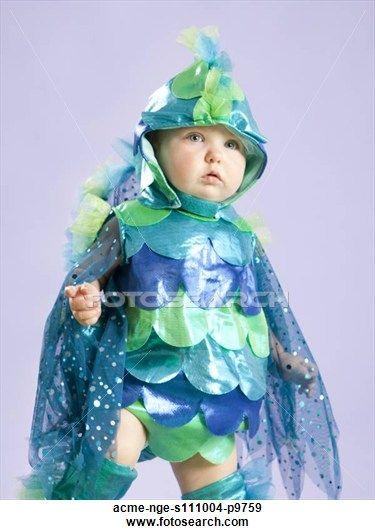coleccin de fotografa retrato beb nia months pez disfraz