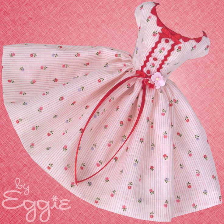 Peppermint Pink - Vintage Barbie Doll Dress Reproduction Barbie Clothes Fashions