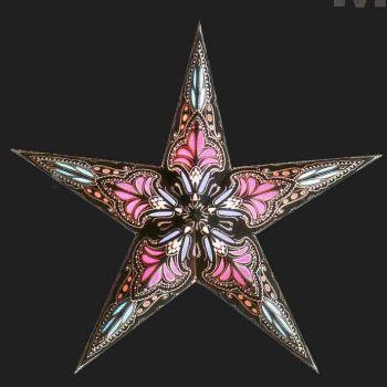 Popular Sternen Lampe Starlightz Papierlampions Papier Lampen Schirme Lokta jaipur black turquoise