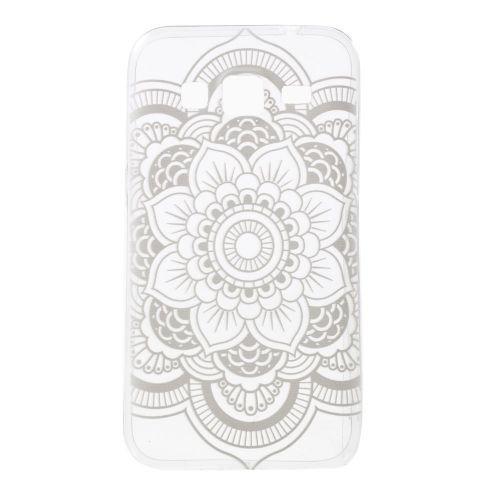 Mesh - Samsung Galaxy Core Prime Hoesje - Back Case Siliconen Transparant Henna Bloemen Print | Shop4Hoesjes