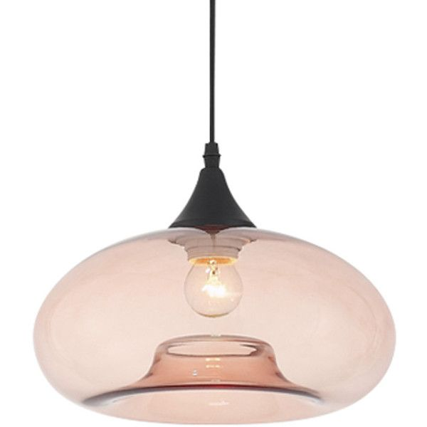 Dot & Bo North Shore Pendant Light - Brown (£91) ❤ liked on Polyvore featuring home, lighting, ceiling lights, glass shade lamp, brown pendant light, wall-mounted lamps, brown shades and glass shade