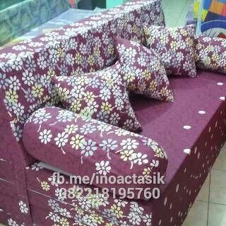 Jual Sofa bed Inoac Tasikmalaya motif bunga ungu | tersedia dlm berbgai ukuran, motif lain bisa dipesan. hub 082218195760 7DAE8EB3