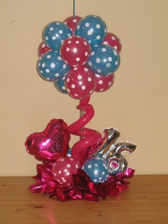 Sweet balloon centerpiece by elegant balloons llc