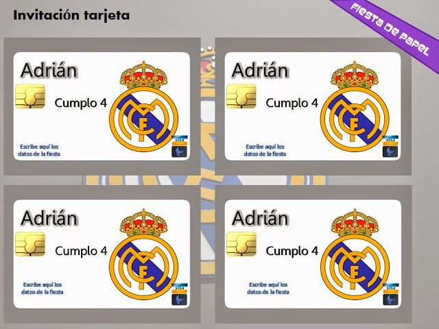 Ki 110 Kit Imprimible Y Editable Real Madrid Fiesta De