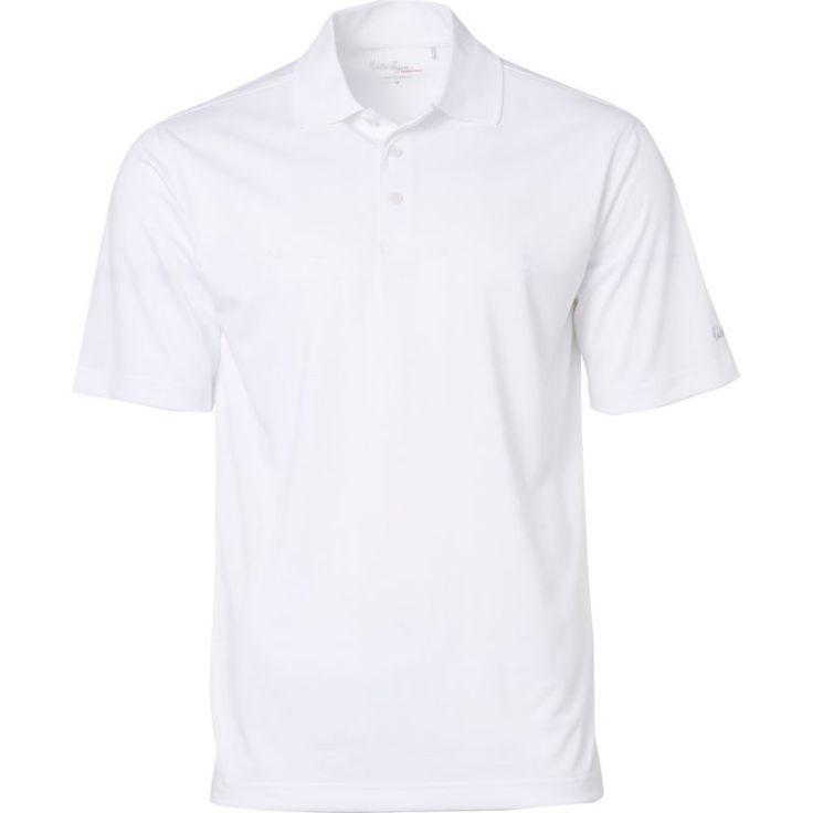 Walter Hagen Men's Essentials Textured Golf Polo, Size: XL, White