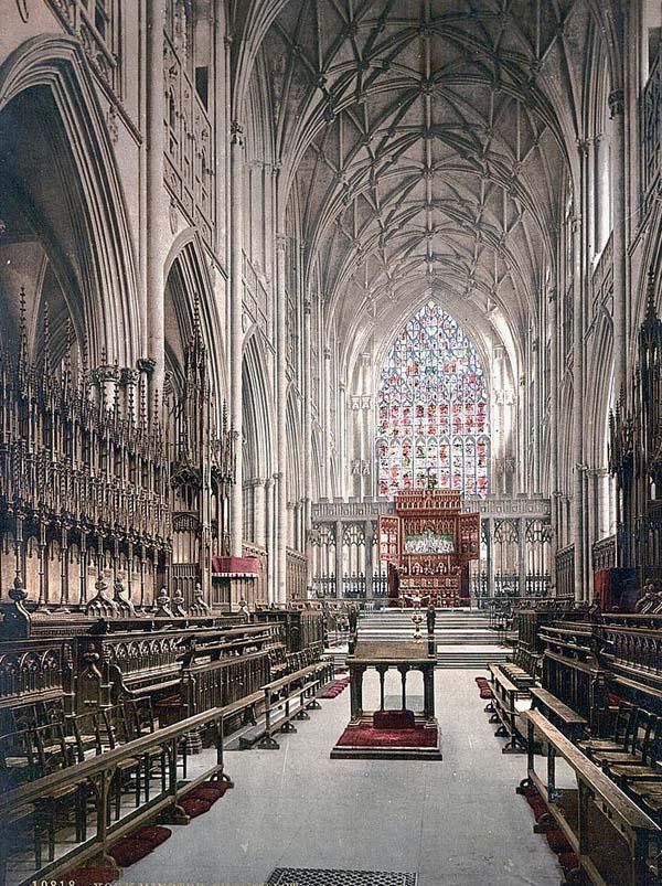 The Interior of York Minster Cathedral, York, English History: Photo