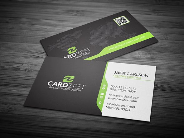 Corporate Business Card Template With Global Map Free Psd Business Card Mock Up Free Business Card Templates Business Card Psd