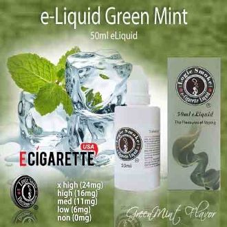 Freshen your breath and your clearomizer with the popular e vapor liquid Green Mint from Logic Smoke. A hint of sweetness and just the right amount of mint, produce the perfection of what is Green Mint. Buy a bottle of Logic Smoke Green Mint e vapor liquid today and indulge your minty cravings. #50ml #GreenMint #eliquid #ECigaretteUSA