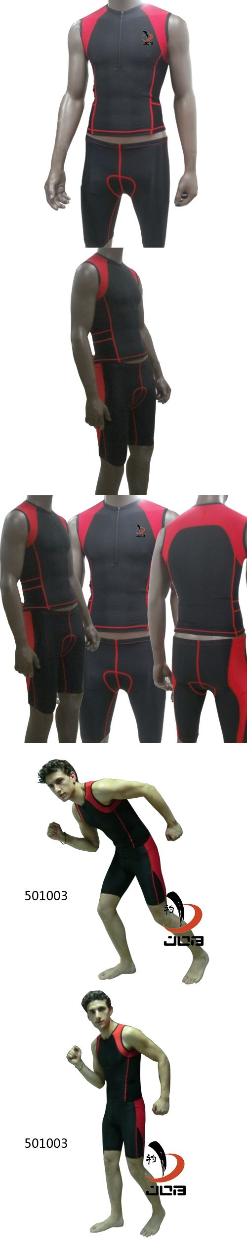 New Arrivals Men's Triathlon Skin Suit Tri Sleeveless Compression Skin Tight Suit Color Black for Cycling Racing Training