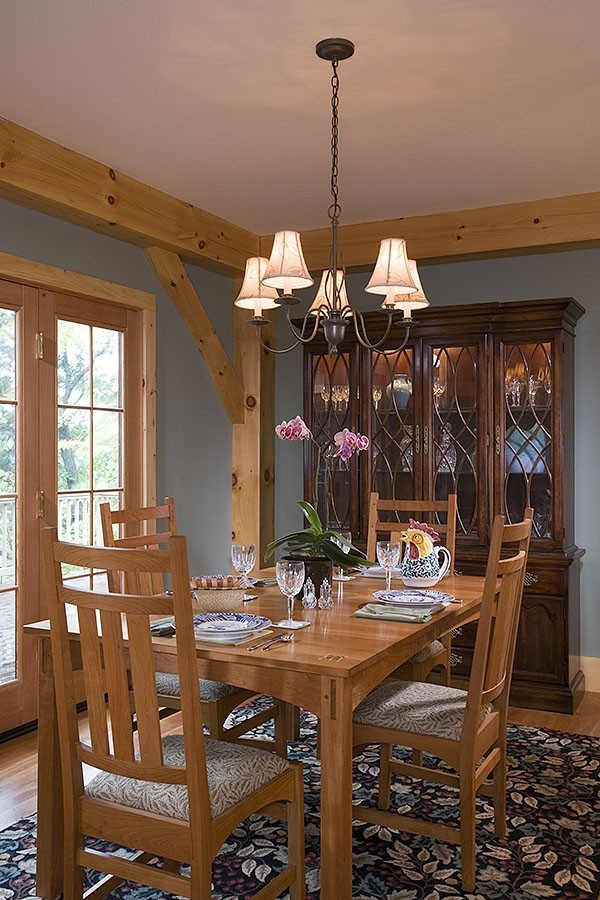 Custom eastern white pine frame 3 inspiring timber frame for Timber frame home interiors