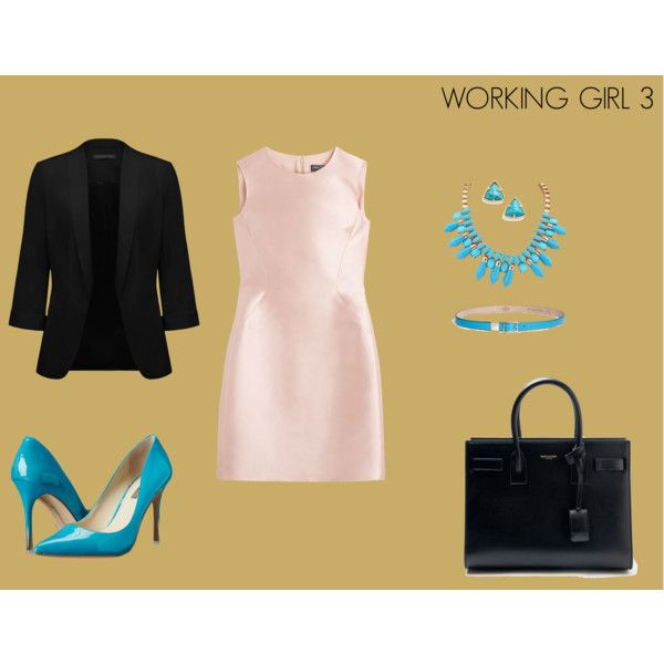 WORKING GIRL 3 by marisol-fernandez-zumba on Polyvore featuring polyvore fashion style Salvatore Ferragamo Forever New BCBGeneration Yves Saint Laurent Kendra Scott Valentino