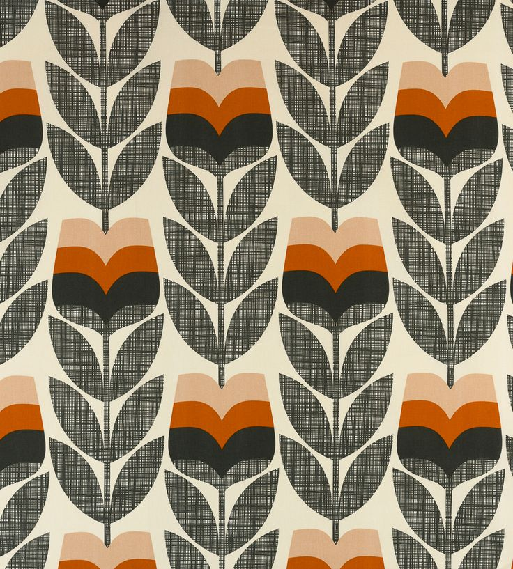 70s Interior Design Revival   Rose Bud Fabric by Ashley Wilde   Jane Clayton