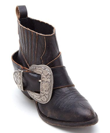 Look what I found on #zulily! Black Bitchin' Biker Leather Boot #zulilyfinds