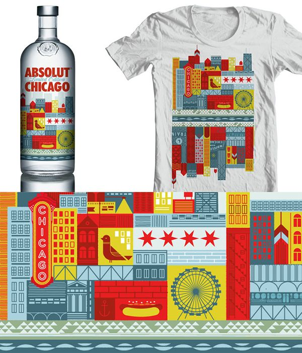 Absolut Chicago packaging design