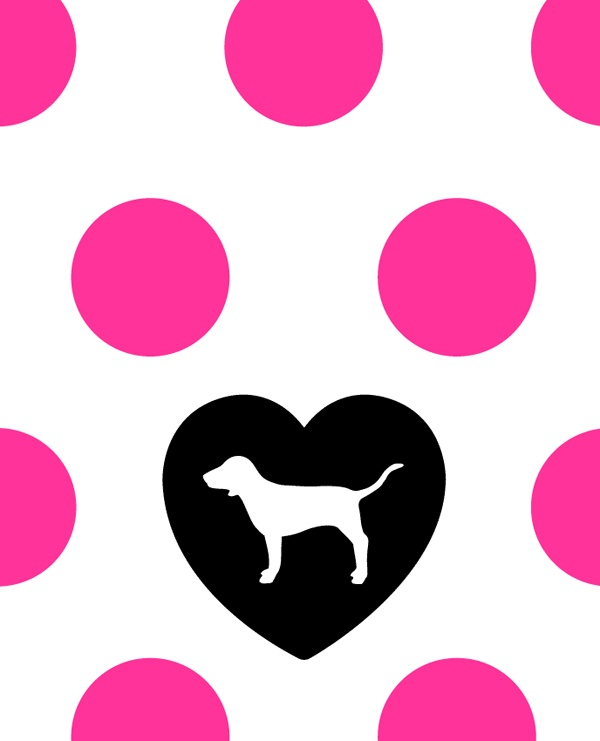 pink logo victorias secret dog