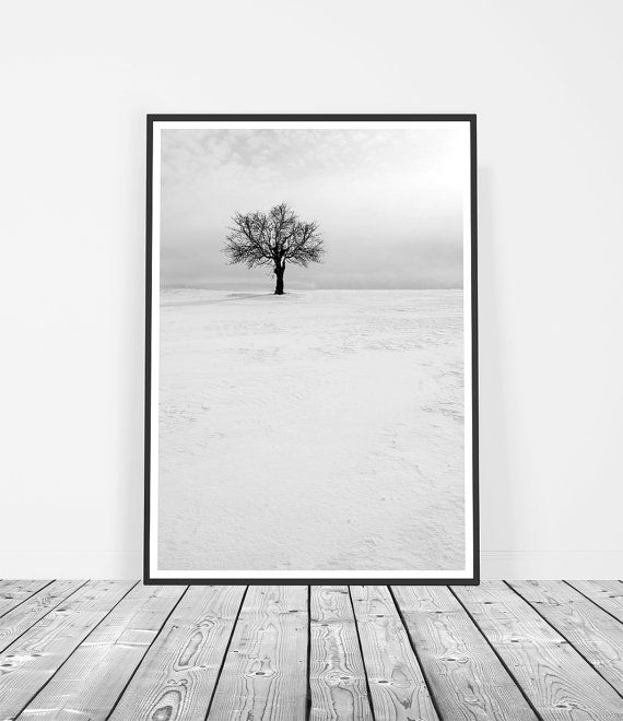 Scandinavian Snow Tree Art Print ______________________________________________________  Welcome to Little Ink Empire. Here youll find a range of unique art prints inspired by the latest interior design trends.  PREMIUM PRINTED ARTWORK Your artwork will be professionally printed on premium satin photo paper for superior image quality. All prints are made-to-order and posted securely in a sturdy mailing tube within 3-5 business days. Tracking is provided for both Australian and International…