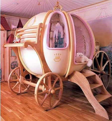 Your daughter will feel like a princess in this bed!  15 Most Creative Beds - Oddee.com (cool beds, kids cool beds)