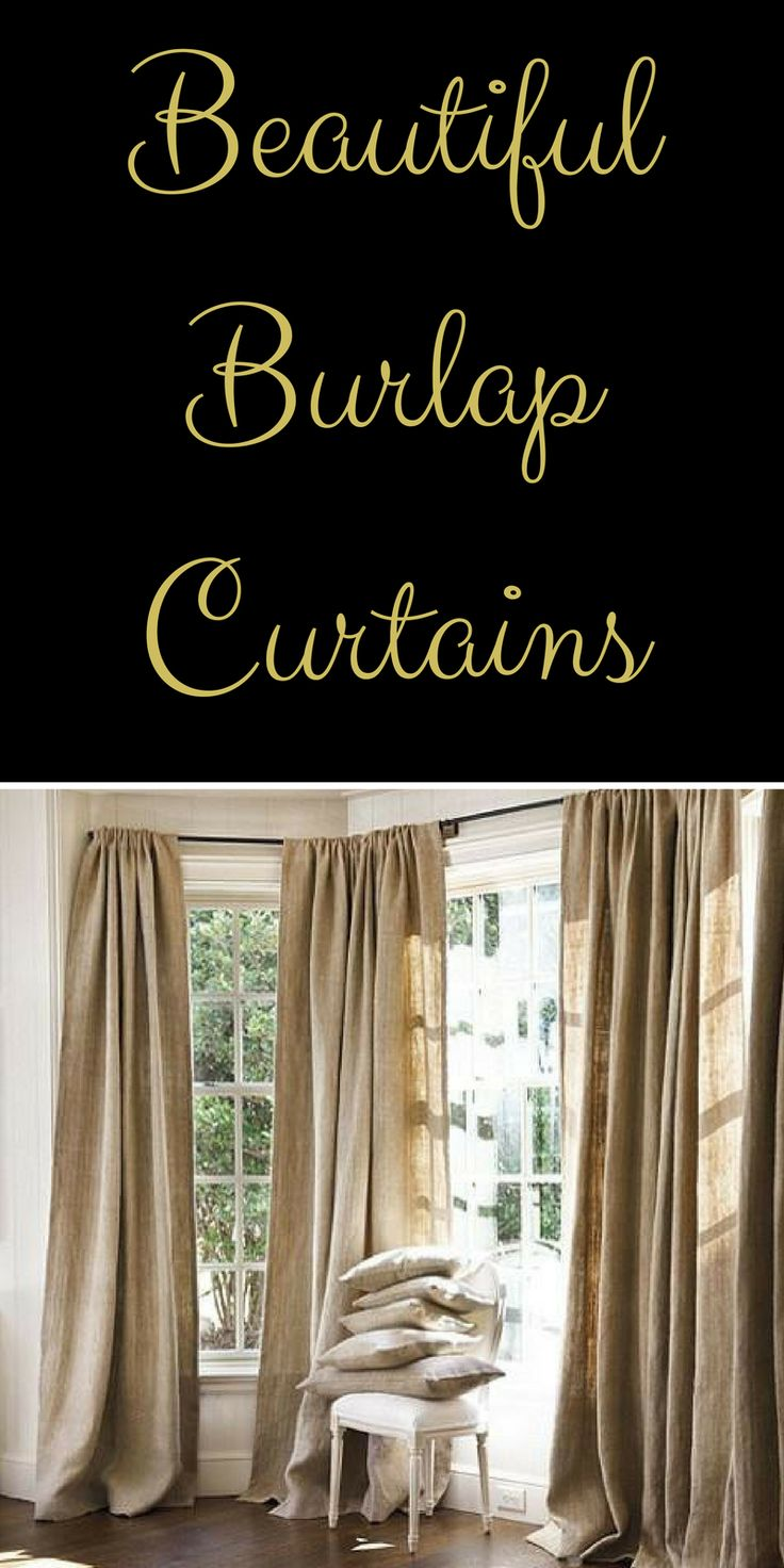 Best 25+ Burlap window treatments ideas on Pinterest ...