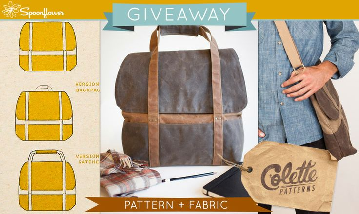 Check out this week's giveaway from Spoonflower-- a chance to win a Cooper pattern from Colette Patterns + custom-printed fabric to sew it up!