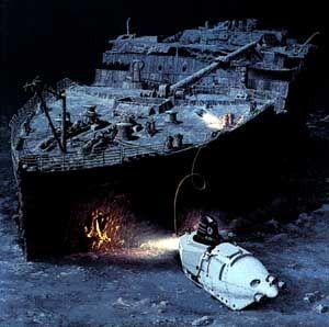 El descubrimiento del Titanic despues de 73 años en el fondo.