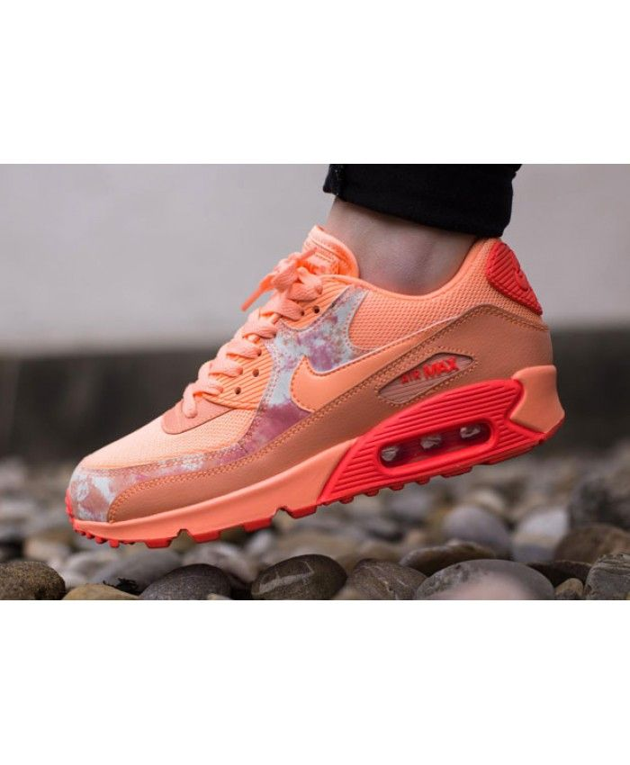 nike air max 90 essential dark grey sunset glow nail