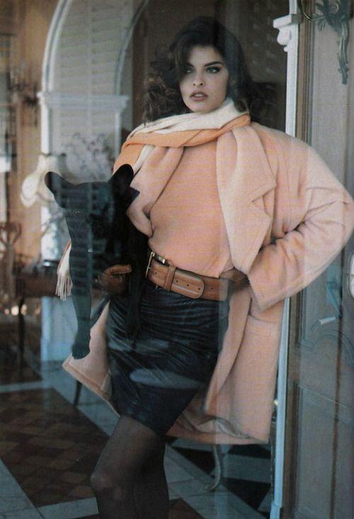 lalinda-evangelista:  Vogue France (1987) Ph Demarchelier Model: Linda Evangelista
