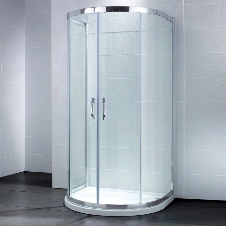 Coram GB Plain Glass Corner Entry Shower Door Chrome Cubicle 760mm 800mm 900mm