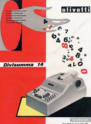 Olivetti (Typewriter) 1950 Divisumma