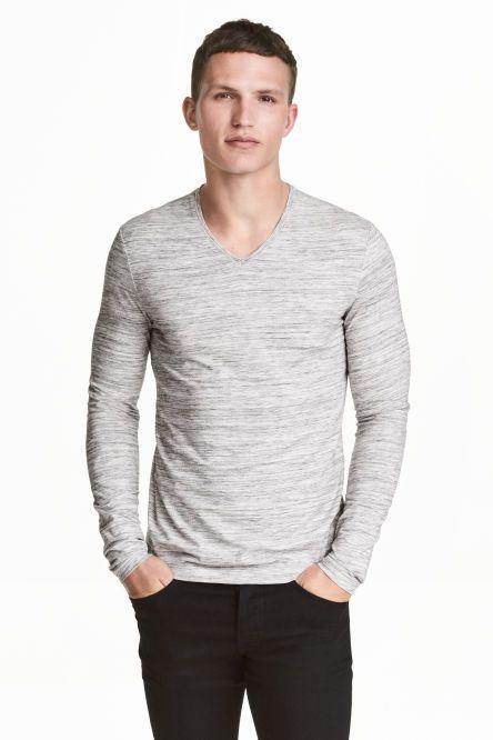 Pružné triko s dlouhým rukávem