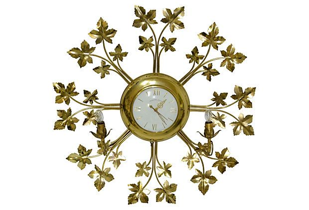 Midcentury Wall Clock w/ Lights on OneKingsLane.com