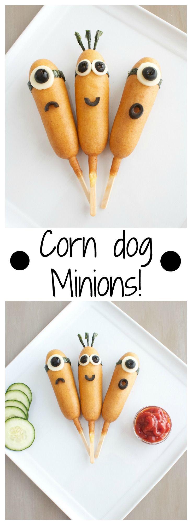 Corn Dog Minions - Make corn dogs more fun for kids! | www.sincerelyjean.com