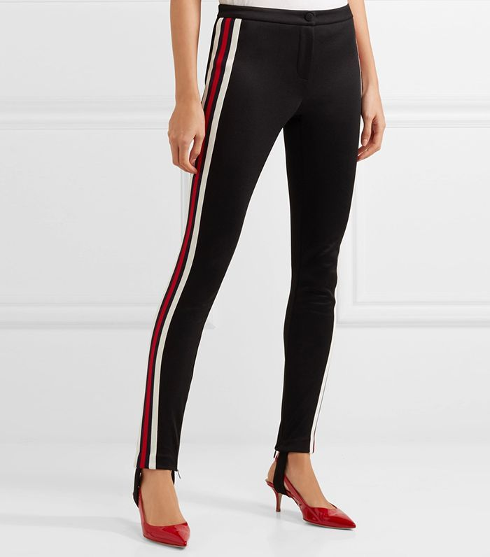 71d33faa713d 23 Pairs of Leggings That Look Just Like Trousers via @WhoWhatWear | Gucci  Striped Tech-Jersey Stirrup Leggings